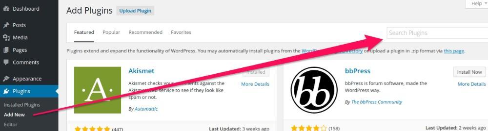 add new search plugins